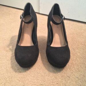 torrid Shoes - Torrid Faux Suede High Back Platform Wedges 8.5
